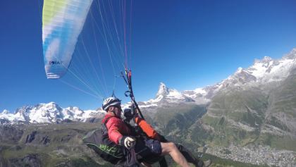 Tandemflüge-Gleitschirmfliegen Zermatt